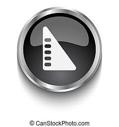 White Set Square symbol on black web button