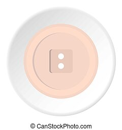 White sewing button icon circle