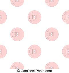 White sewing button pattern flat