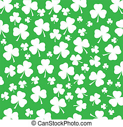 white shamrock - vector white shamrock background