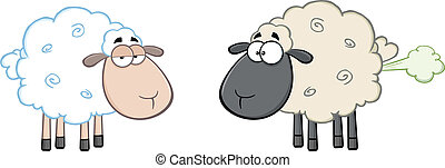White Sheep And Farting Black Sheep