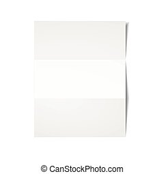 White sheet of paper.
