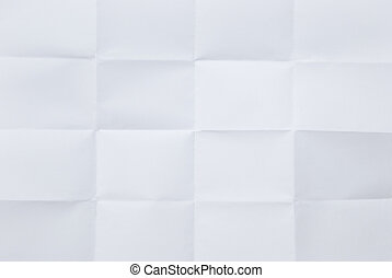 white sheet of paper folded in sixteen