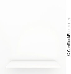 shelf. 3d render on white background