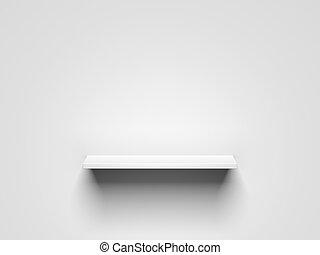 White shelf. 3d rendering