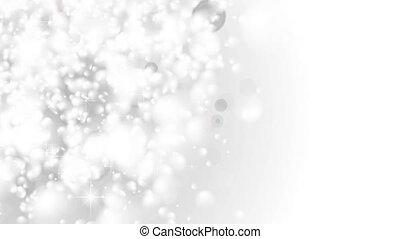 White shiny bokeh abstract luminous video animation - White...