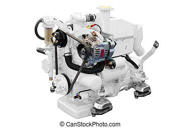 white ship engine