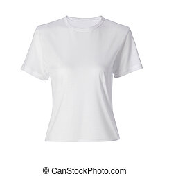 White shirt siolated on white