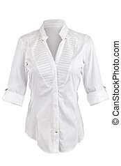 White shirt with rolled up sleeves