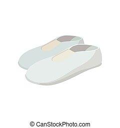 White shoes cartoon icon
