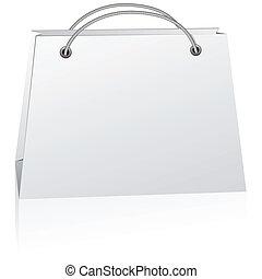 White shopping bag.