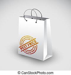 White shopping bag icon