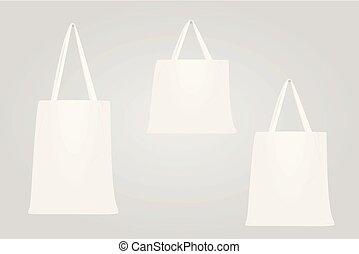 White shopping bag set
