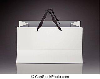 white shopping bag template