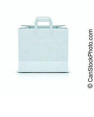 White shopping paper bag