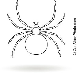 White silhouette of a spider.