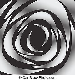 White silhouette of rose on black background, vector illustration