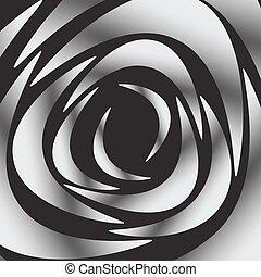 White silhouette of rose on black background, vector illustration