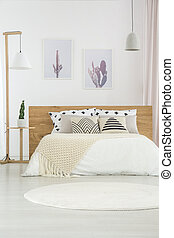 White simple bedroom interior