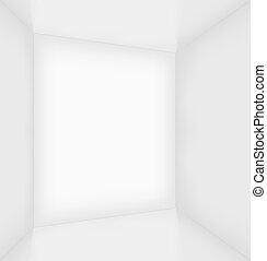 White simple empty room interior