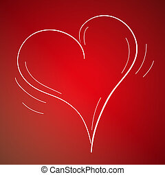 Vector sketch of the real heart Vector Clipart   csp29266151