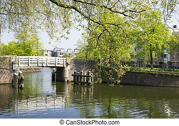 White small bridge in Wittenburg, Amsterdam