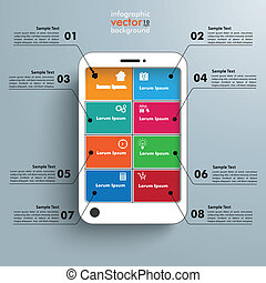 White Smartphone 8 Options Infographic
