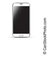 White smartphone realistic vector i