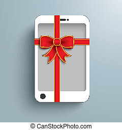 White Smartphone Red Gibbon Gift
