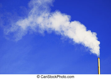 white smoke from a little chimney