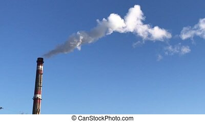 white smoke from the chimney