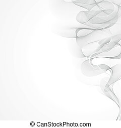 white smoke on a gray background vector