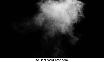 White Smoke Put from Buttom a Black Background