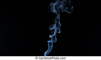 White smoke rising in slow motion