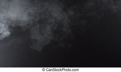 White smoky stream of cigarette, 4k - White smoky cloud of...