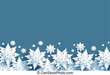 White snow border