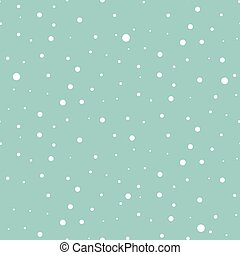 White snow falling blue background seamless pattern vector.