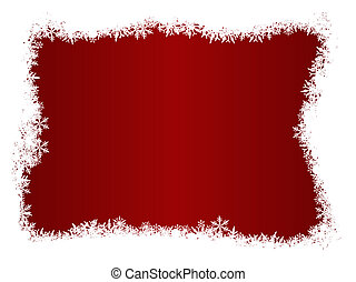 White Snow Flake Christmas Border