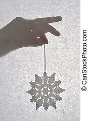 White Snow Flake Christmas Ornament