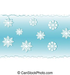 White snow on a blue background, an