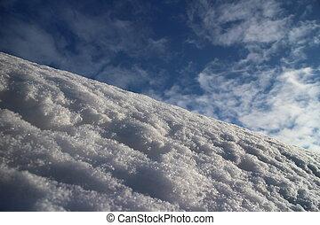 white snow on mountain slope
