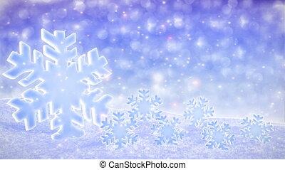 White Snowfalling Background Loop - winter theme