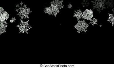white snowflake falling