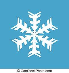 White snowflake icon