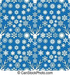 White snowflake seamless
