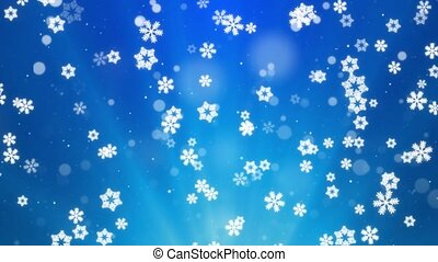 White Snowflakes flying in air Light Snow flakes Loop ...