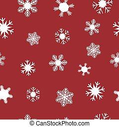 White snowflakes for Christmas