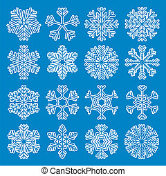 White Snowflakes Icons