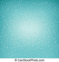 White Snowflakes in the Green Sky