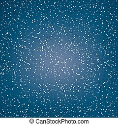 White Snowflakes in the Night Sky